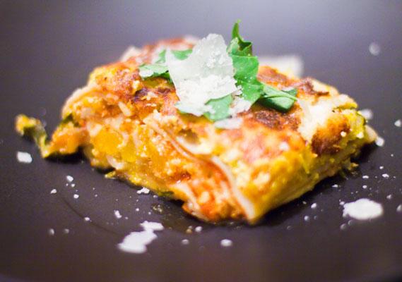 Pumpkin Lasagna with White Sauce | GF in SF